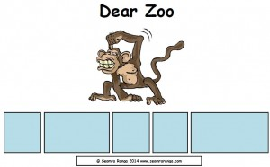 Dear Zoo Sentence Builders