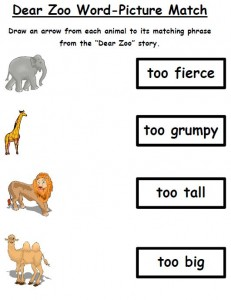 Dear Zoo Word Picture Match 02