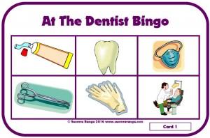 At The Dentist Bingo