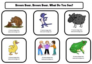 Brown Bear Picture-Ordinal Number Matching