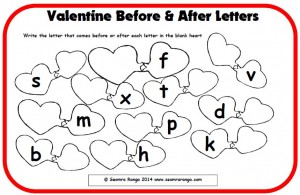 Valentine Before and After Letters