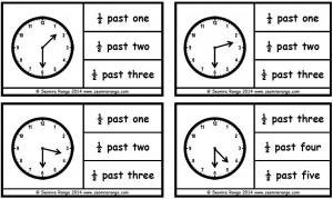 Peg Analogue Time: Half Past | Seomra Ranga