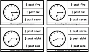 Peg Analogue Time: Quarter Past