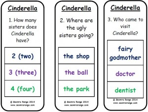 Peg Comprehension: Cinderella