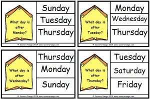 Peg Days of the Week