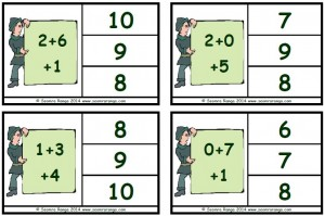 Peg Numbers Addition 10