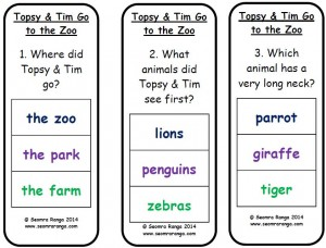 Peg Topsy & Tim Go To The Zoo