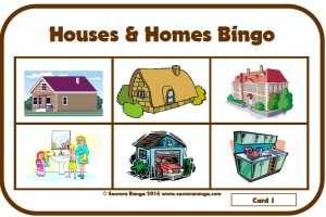 Houses and Homes Bingo