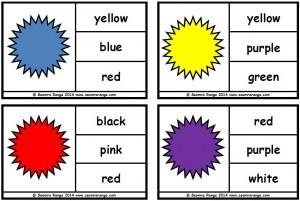 Peg Colour Word Match