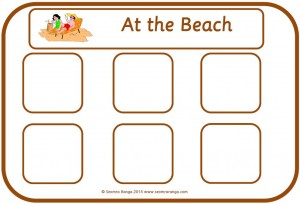 Beach, School and Zoo Sorting