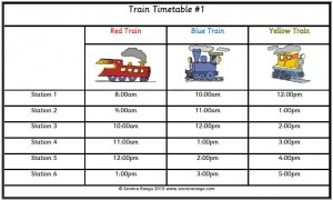 math worksheet : train timetable 01 : Maths Timetable Worksheets