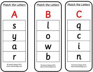 Peg Match the Letters 01