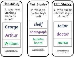 Peg Comprehension: Flat Stanley 01
