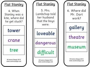 Peg Comprehension: Flat Stanley 02