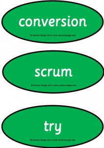Rugby Vocabulary