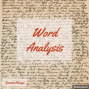 Word Analysis 01