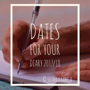Dates For Your Diary for the New School Year