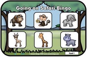 Going on Safari Bingo 01