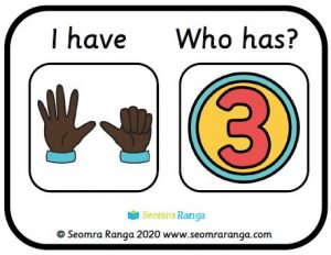 Early Number Hands Loop Card Game