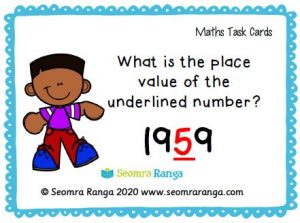 Maths Task Cards – Place Value 01 (Free Version)