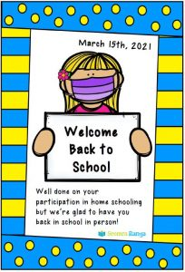 Welcome Back to School Note