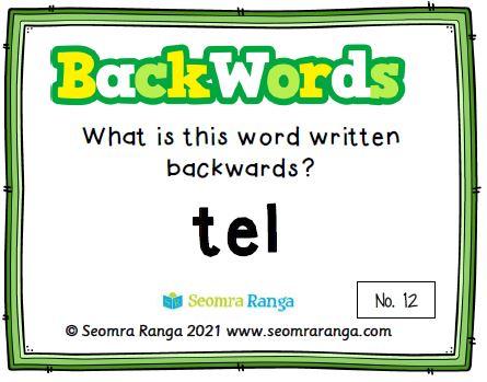 English Task Cards – Backwords 01 (Free Version)