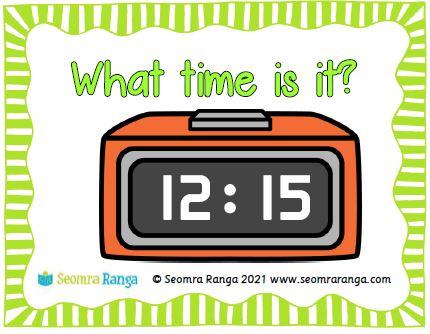 Maths Task Cards – Digital Time 02