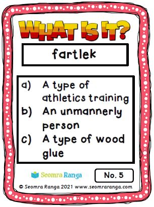 English task Cards – What Is It? 02