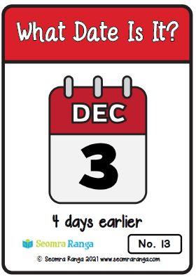 Maths Task Cards – Calendar Dates 01
