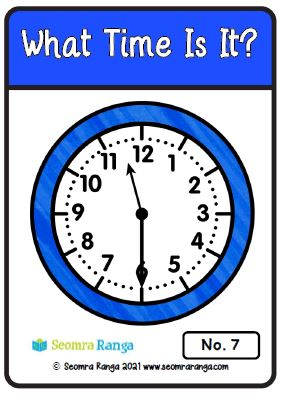 Maths Task Cards – What Time Is It? 01