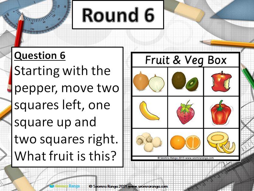 Maths Week Table Quiz 2021 (Junior)