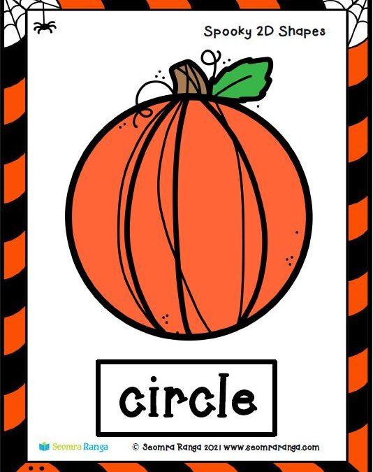 Spooky Hallowe'en 2D Shapes 03